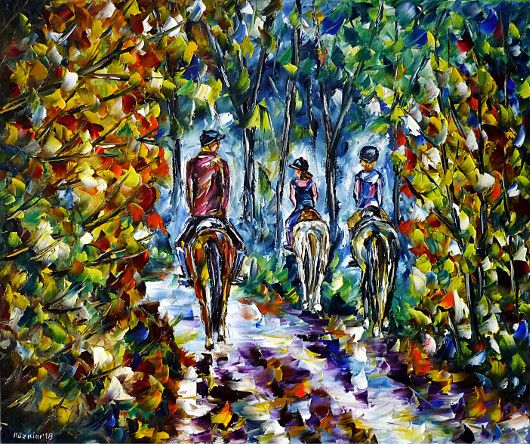 oilpainting,modern,impressionism,horses,riding,girls,children,kids,family,landscape,summer,spring,autumn,horselove,forest,park,ridingtour,ridingtrip,rider