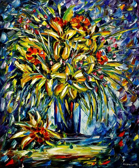 oilpainting,modern,impressionism,flowers, flowerpainting,springflowers,summerflowers,bouquet,flowersinvase,stilllife,yellowflowers