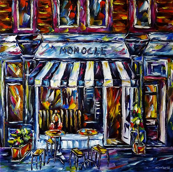 oilpainting, impressionism,restaurant,bar,pub,inn,london,england,uk
