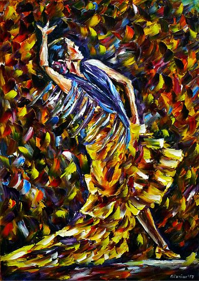 oilpainting, impressionism, dance, dancing, spain, flamencodancers, andalusia, dancers, music