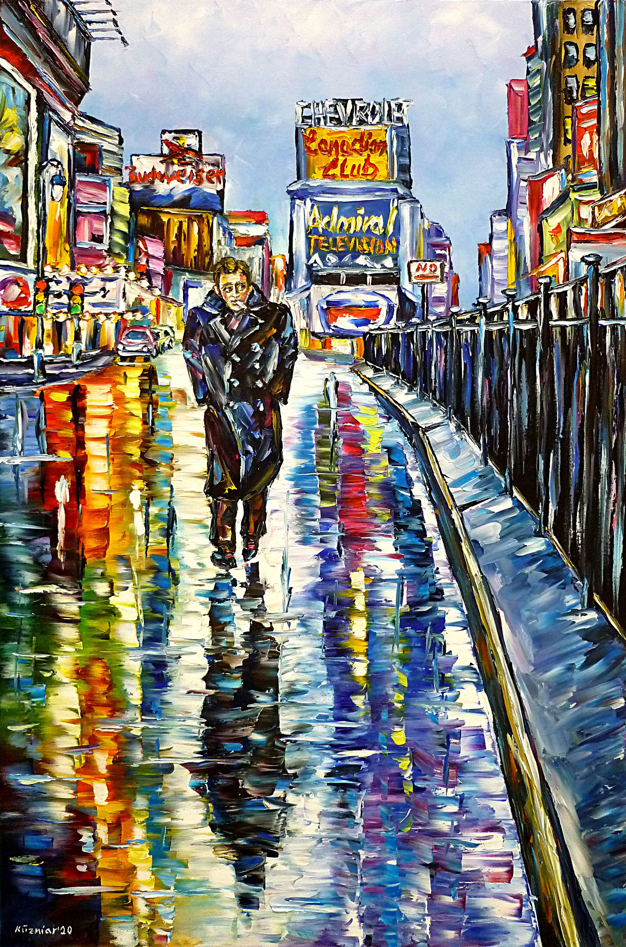 jamesdeanpainting,jamesdeanpicture,jamesdeanportrait,jamesdeanattimessquare,jamesdeaninnewyork,timessquare1955,newyork1955,boulevardofbrokendreams,jamesdeanintherain,newyorkintherain,timessquareintherain,cloudysky,rainyday,rainysky,jamesdeanwithcigarette,manwithcigarette,smoker,smoking,maninacoat,jamesdeaninacoat,waterreflections,lonelyman,cityintherain,newyorkpainting,newyorkpicture,newyorklovers,newyorklove,ilovejamesdean,ilovenewyork,colorfulnewyork,beautifulnewyork,oldnewyork,chevrolet,canadianclub,budweiser,newyorkadvertising,glowingbillboards,walkingintherain,citywalk,colorfulhouses,cityscape,newyorkabstract,bluepainting,paletteknifeoilpainting,modernart,impressionism,artdeco,abstractpainting,livelypainting,colorfulpainting,livelycolours,brightcolors,lightreflections,impastopainting,livingroomart,livingroompicture,livingroompainting