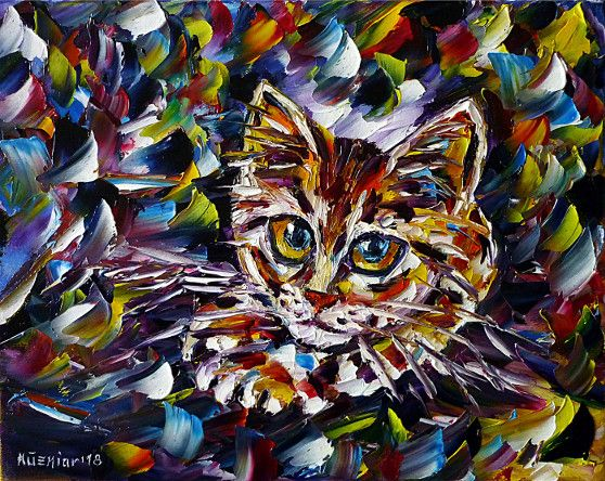 oilpainting, impressionism, catportrait,kitty,kitten,youngcat,animals,animalportrait,animalpainting,catpainting,catlove, animallove
