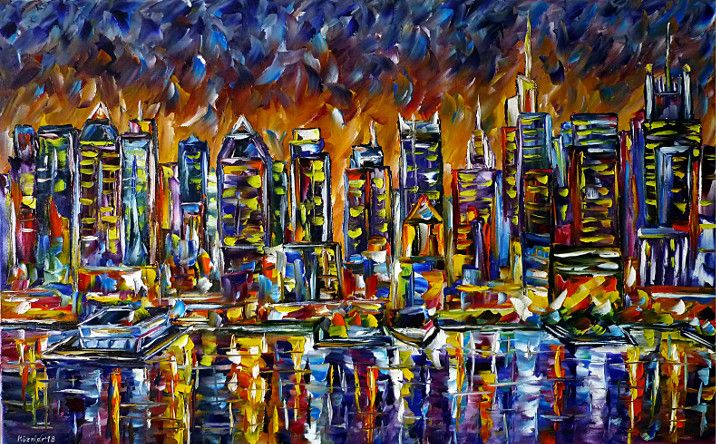 oilpainting, impressionism,newyork,nyc,skycrapers,manhattanintheevening,manhattanatnight,newyorkintheevening,newyorkatnight,america,cityscape,citypainting,skylinepainting,skypainting,waterpainting,sunset