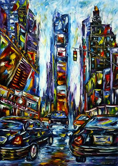 oilpainting, impressionism, cityscape, bigapple, nyc, broadway, cats, 42ndstreet, lesmiserables, thelionking, theproducers