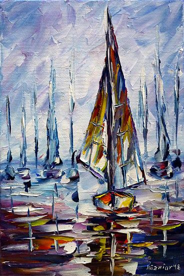 oilpainting,impressionism,sea,sealandscape,seascape,sailing,sunset,seapainting,boatspainting,haze,mist