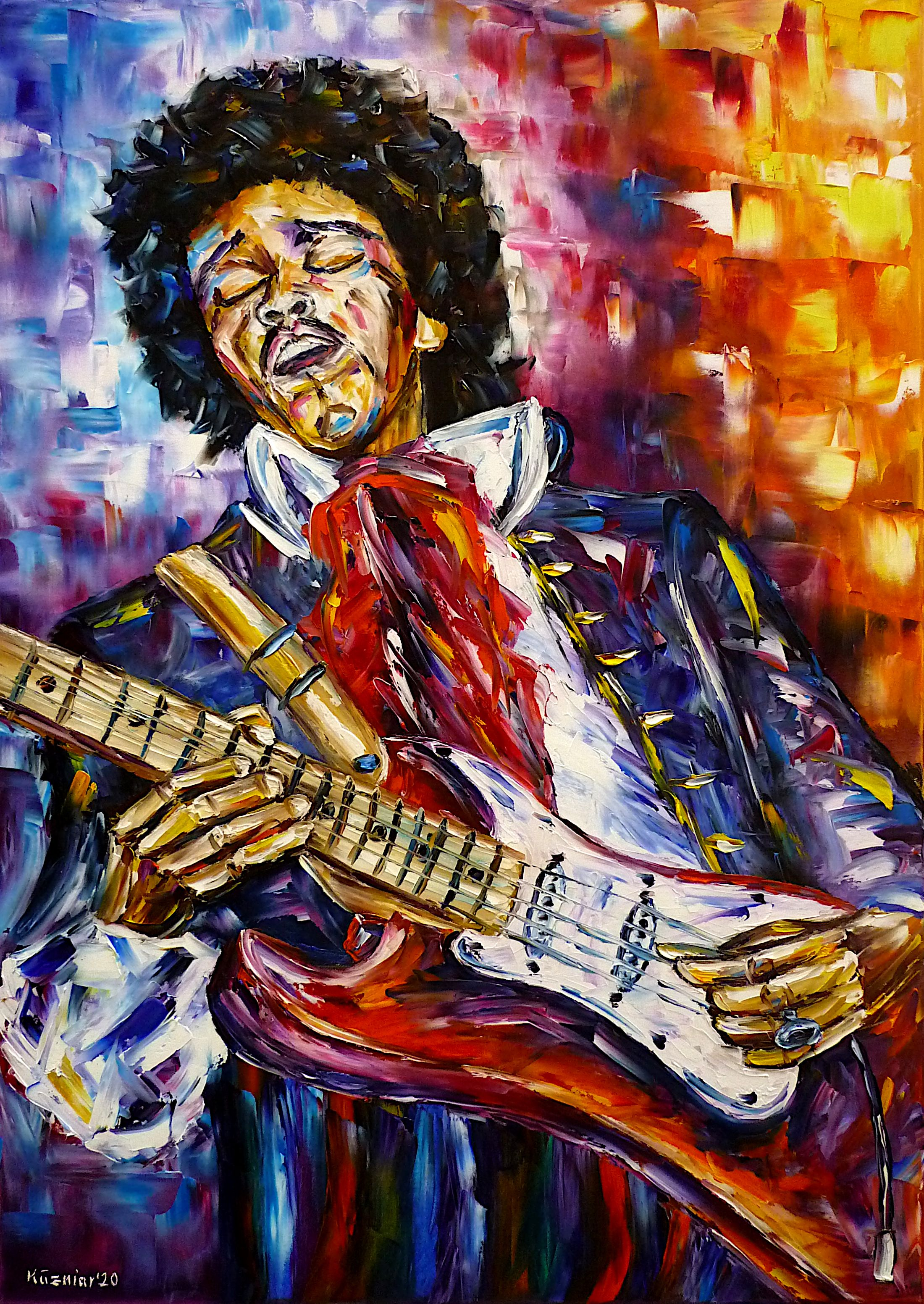 jimihendrixpainting,jimihendrixpicture,jimihendrixportrait,musicianpainting,musicianportrait,makingmusic,playingmusic,musical,guitarist,guitarplayer,playingguitar,manwithguitar,coloredpainting,coloredportrait,coloredman,rockmusic,rockmusician,peoplepainting,colorfulportrait,jimihendrixabstract,ilovejimihendrix,jimihendrixlove,jimihendrixlovers,flowerpower,flowerchildren,60s,70s,hippymusic,hippies,cheerfulpicture,joy,friendlypicture,friendlypainting,peace,peacefulpicture,peacefulpainting,paletteknifeoilpainting,modernart,impressionism,artdeco,abstractpainting,livelycolours,colorfulpainting,brightcolors,lightreflections,impastopainting,livingroomart,livingroompicture,livingroompainting