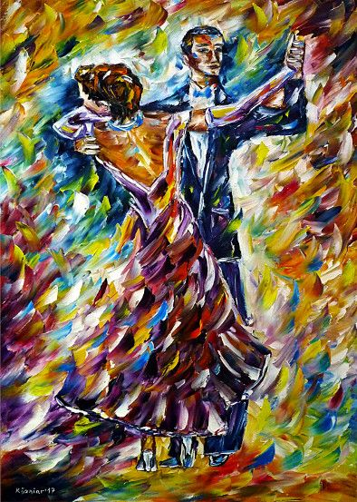 oilpainting, impressionism, dance, dancing, classical, Viennesewaltz, dancers, music
