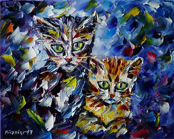 oilpainting, impressionism, cats, catlove, catpainting, animalportrait, animalpainting, catpainting