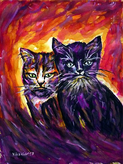 watercolorpainting, cats, catportrait, catpainting, catslove, animalpainting, animalportrait